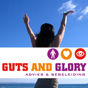 guts and glory logo huisstijl website